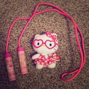 Other - Hello kitty Beanie baby and a jump rope